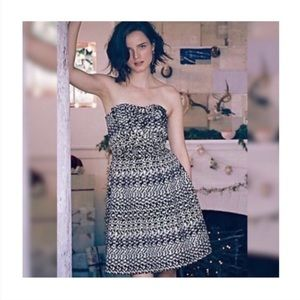 Anthropologie Eva Franco Vera Strapless Bow Dress